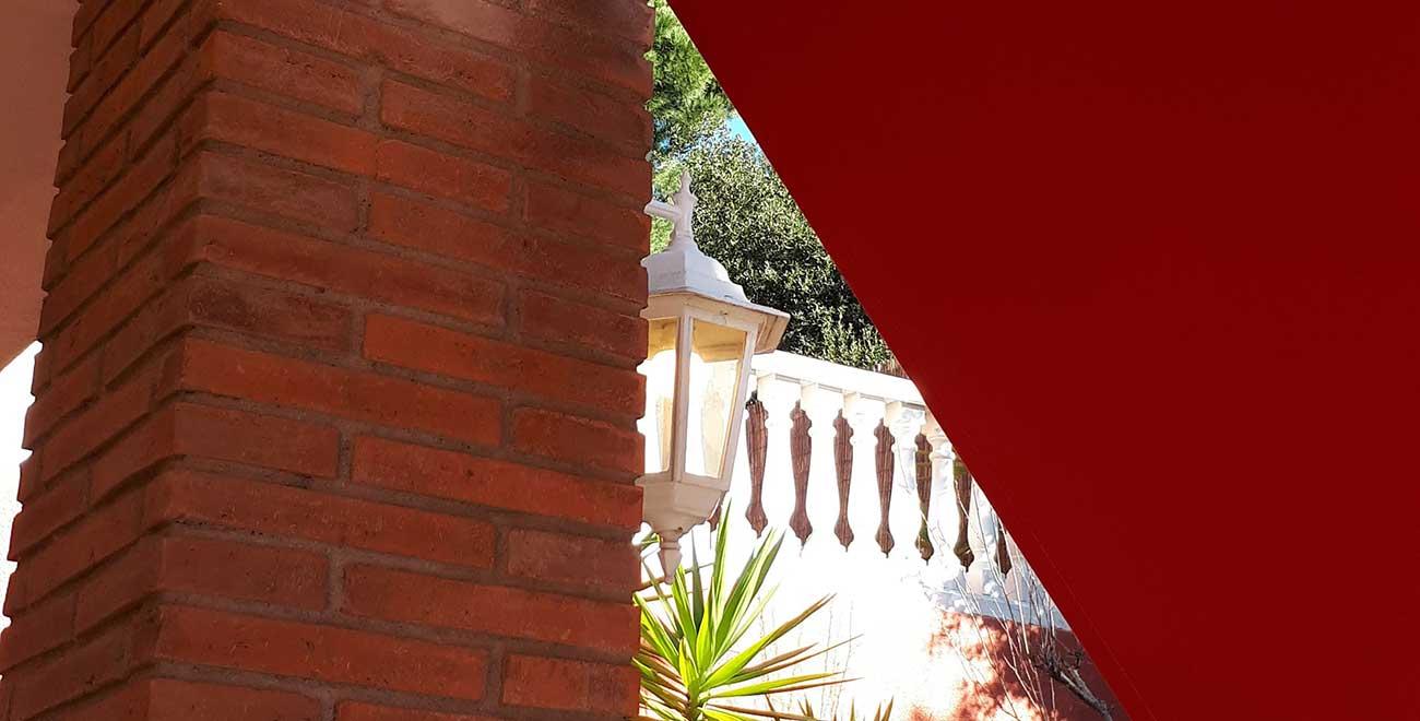 Toldo punto recto para balcones