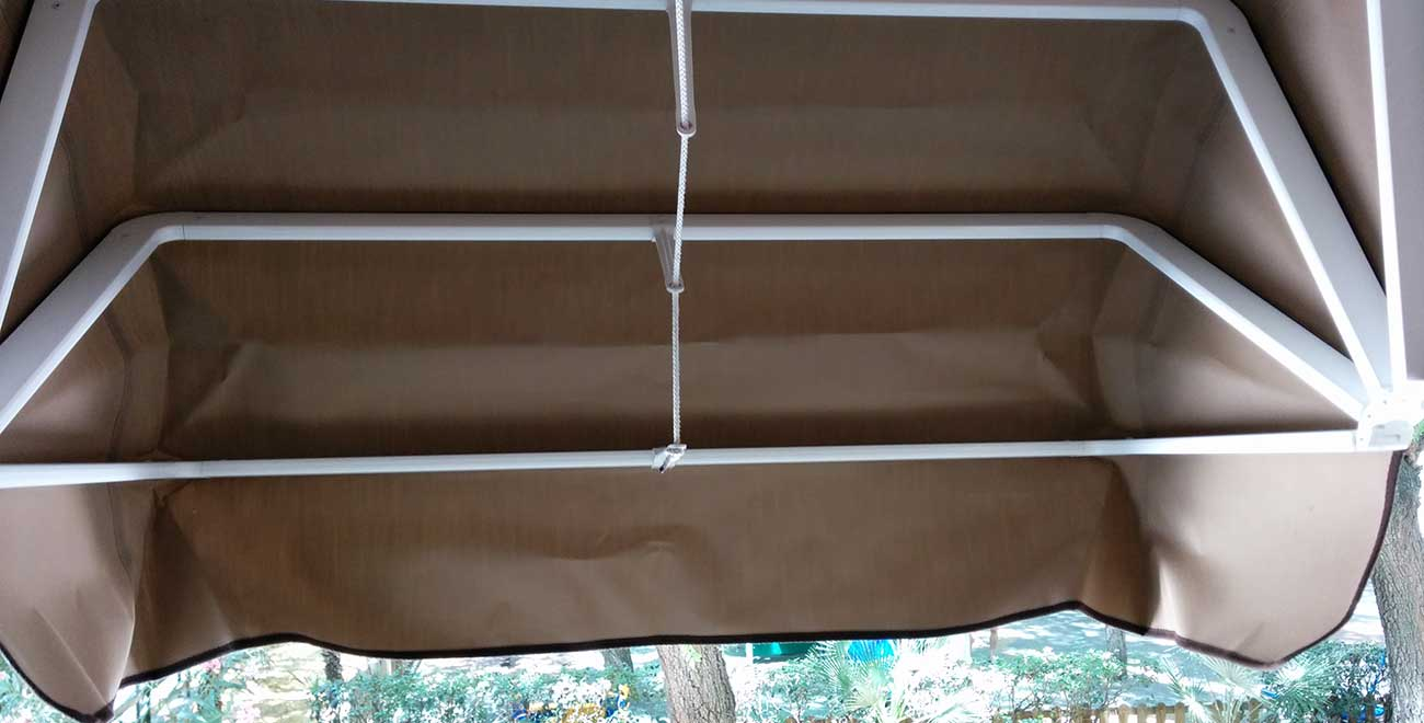 Toldo capota para ventanas vista interior